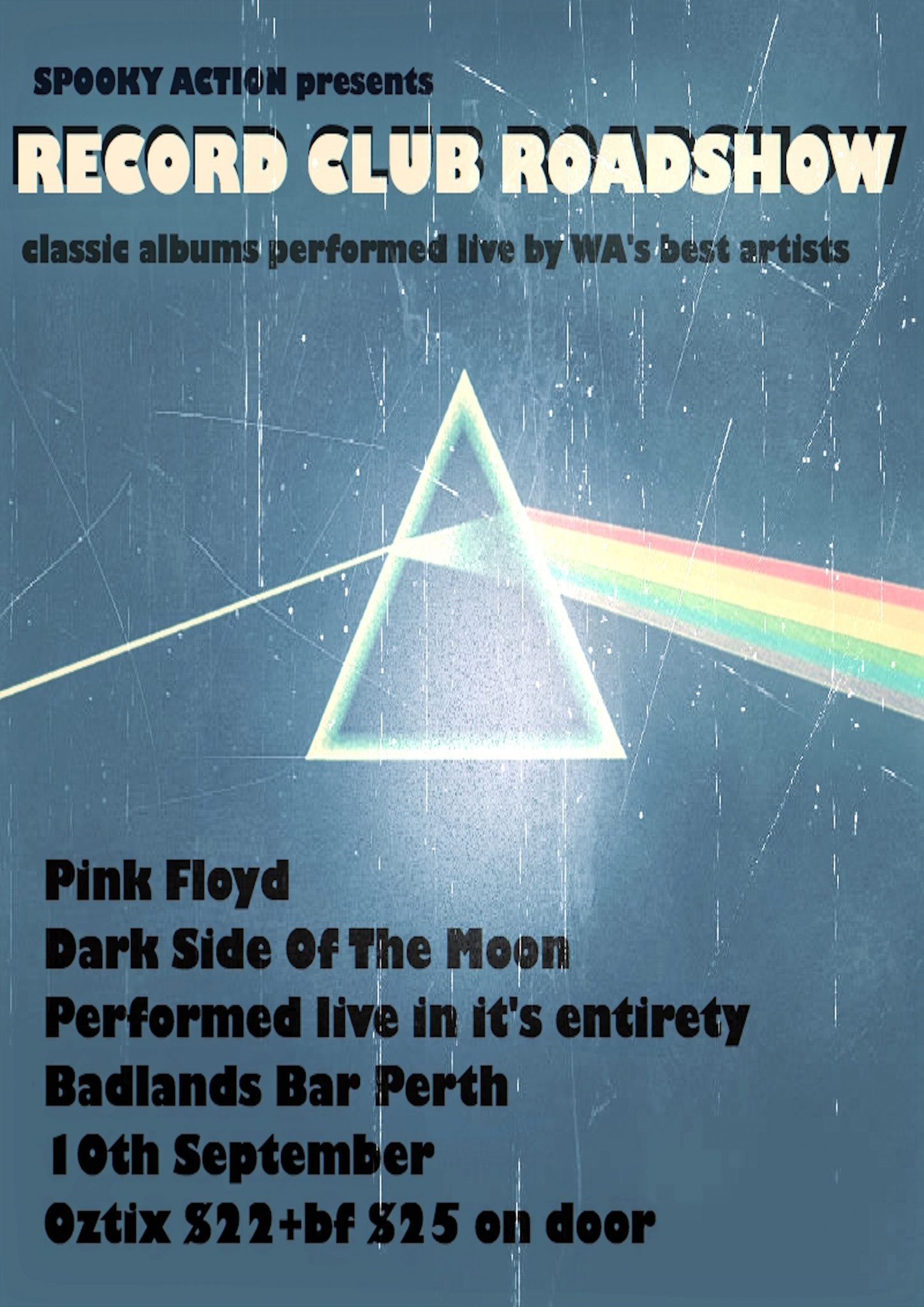 Record Club Roadshow present Pink Floyd – Dark Side of the Moon
