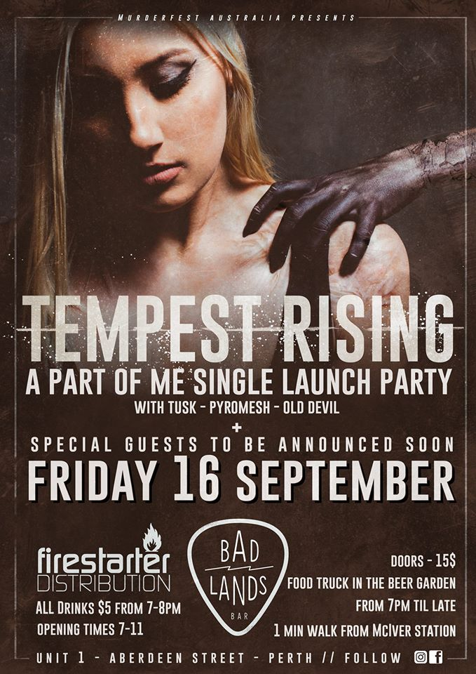 Tempest Rising – Single Launch. With Tusk, Pyromesh and Old Devil.