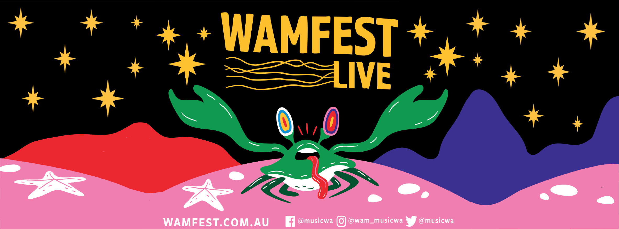 WAM Fest – FREE entry – 2 x stages – feat. The Floors, New Talk + 13 more bands