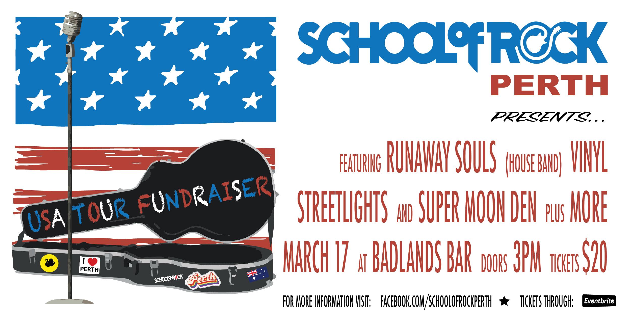 School of Rock Perth USA Tour Fundraiser