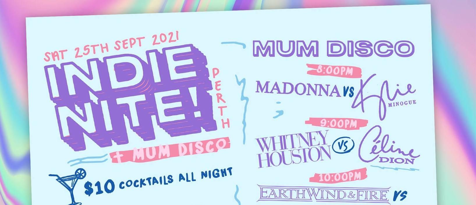 Indie Nite! + Mum disco